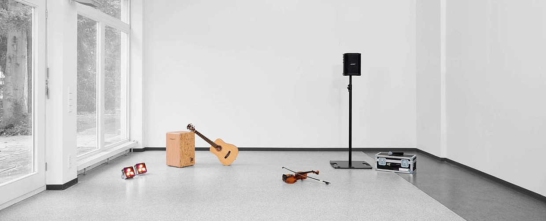 Clang!Raum - Räumlichkeiten und Instrumente